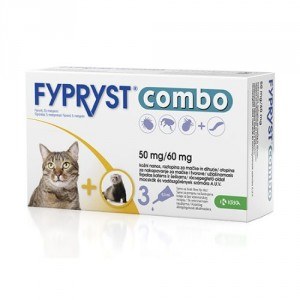 Fypryst Combo Spot-on pretparazitāri pilieni kaķiem un seskiem blusu, ērču, utu novēršanai 50 mg/60 mg N3