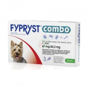 Fypryst Combo Spot-on pretparazitāri pielieni (pipetes) suņiem 2-10 kg 67mg N3