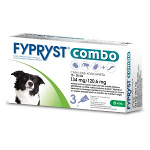 Fypryst Combo Spot-on pretparazitāri pilieni (pipetes) suņiem 10-20 kg 134 mg N3