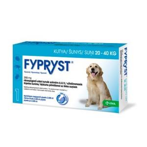 Fypryst pretparazitāri pilieni  (pipetes) suņiem 20-40 kg 268 mg  N1