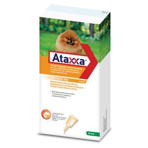 Ataxxa 200 mg/40 mg pretparazitāri pielieni (pipetes) suņiem līdz 4 kg N1