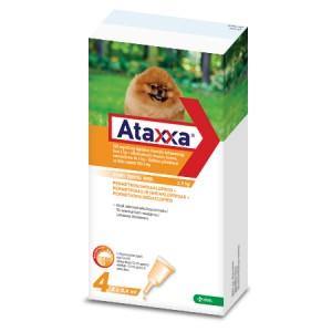 Ataxxa 200 mg/40 mg pretparazitāri pielieni  (pipetes) suņiem līdz 4 kg N4