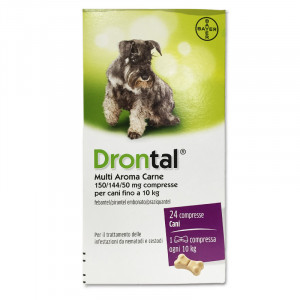 Drontal Dog Flavour 150/144/50 mg tabletes suņu attārpošanai N24