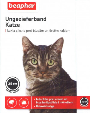 Beaphar Ungezieferband For Cats 35cm  pretparazitara  kaklasiksna kaķiem