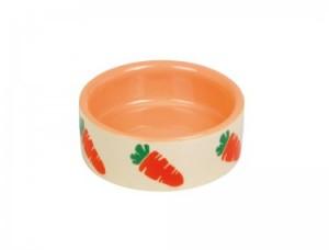 Nobby Carrot keramiskā bļoda grauzējiem Ø7,5 x 2,5 cm