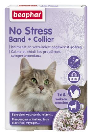 Beaphar No Stress Collar for Cat nomierinoša kaklasiksna kaķiem ar baldriānas ekstraktu 35cm