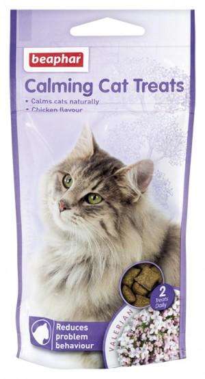 Beaphar No Stress Treats for Cat nomierinoši gardumi kaķiem ar baldriānas ekstraktu 35g