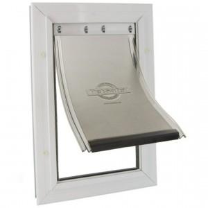 Petsafe Staywell® Aluminium S alumīnija durvis ar elastīgu plastikas mēli un metāla aizslēgšanas aizbīdni