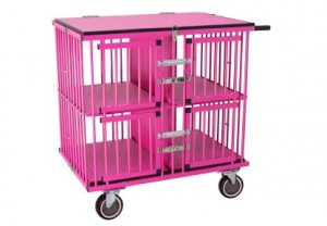 Show Tech All-in-One Show trolley 4 berth Pink 95x65x100cm transportēšanas būris, rozā