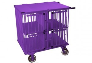 Show Tech All-in-One Show trolley 4 berth Pink 95x65x100cm transportēšanas būris, violets