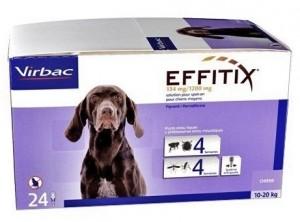 EFFITIX VIRBAC  spot on pilieni  vidēja izmēra (10-20 kg) suņiem N4
