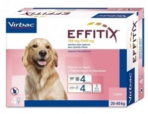 EFFITIX VIRBAC spot on pilieni liela auguma ( 20-40kg)  suņiem N4