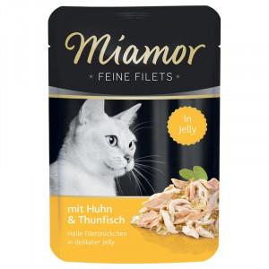 Miamor Feine Fillets 24 x 100g Filejas gabaliņi želejā ar tunci un vistu