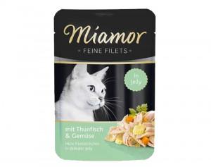 Miamor Feine Fillets 24 x 100g Filejas gabaliņi želejā ar tunci un dārzeņiem