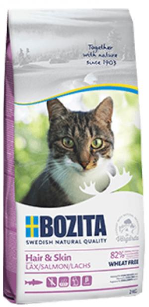 Bozita Feline Wheat Free Salmon Hair & Skin - sausā barība kaķiem 2kg
