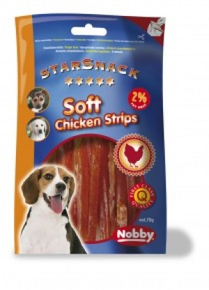 """Nobby Starsnack """"Soft Chicken Strips"""" 70 g"""
