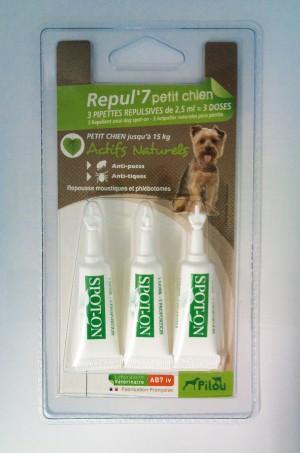 PILOU petit chien 3 Pretparazītu līdzekļa pipetes maziem suņiem N3