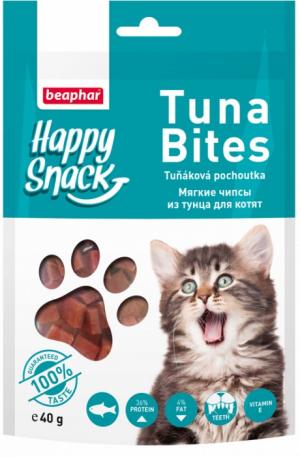 Beaphar Tuna Bites for Cat Gabaliņi ar tunci 40g