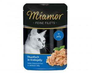 Miamor Feine Fillets 24x100g Tuncis ar krabi želejā