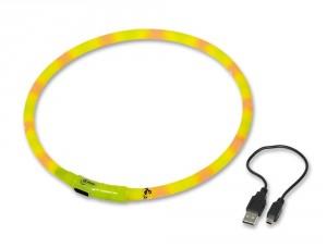 Nobby LED - kakla siksna, dzeltena