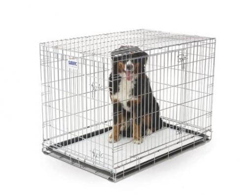 Beeztees - metāla būris suņiem ar metāla pamatni