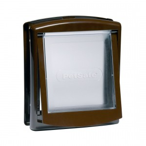Petsafe Staywell® Original durvis iebūvēšanai ar  2 režīmiem, M brūna krāsa