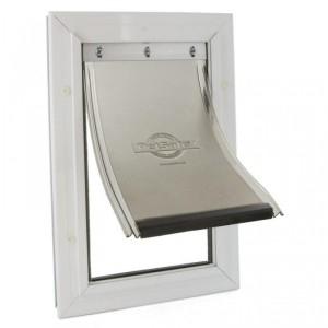 Petsafe Staywell® Aluminium M alumīnija durvis ar elastīgu plastikas mēli un metāla aizslēgšanas aizbīdni