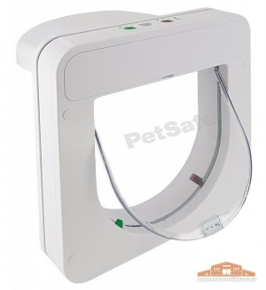 Petsafe PetPorte durvis kaķiem ar mikročipu iebūvēšanai durvīs vai sienās