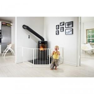 BABY DAN SAFETY GATE FLEX L WHITE - drošības vārti, balti