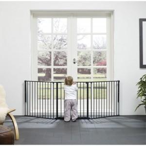 BABY DAN SAFETY GATE FLEX L BLACK - drošības vārti, melni