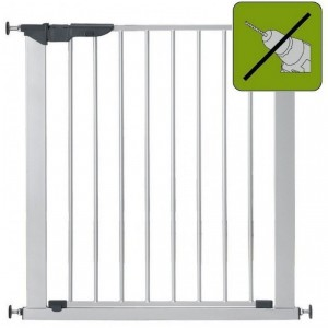 BABY DAN PREMIER SAFETY GATE SILVER - drošības barjera kāpnēm, pelēka