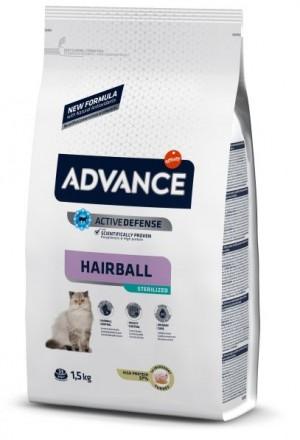 ADVANCE CAT STERILIZED HAIRBALL  sausā barība kaķiem  1.5 kg