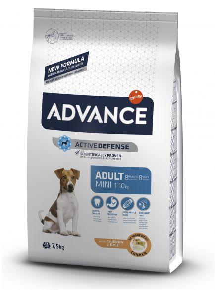 ADVANCE DOG MINI ADULT sausā barība suņiem  7.5 kg + kauls DĀVANĀ!