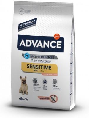 ADVANCE DOG MINI ADULT SENSITIVE sausā barība suņiem  0.8 kg