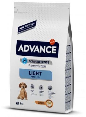 ADVANCE DOG MINI LIGHT sausā barība suņiem  3 kg