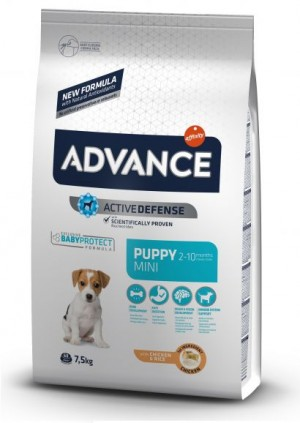 ADVANCE DOG MINI PUPPY sausā barība suņiem  0.8 kg