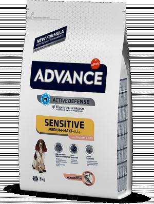 ADVANCE DOG  SENSITIVE sausā barība suņiem 12 kg