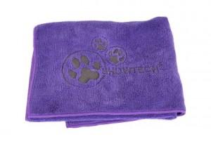 Show Tech Microfibre Towel - Mikrošķiedru dvielis ar izšuvumiem,violets