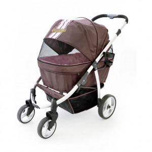Innopet Buggy Retro Brown/pink ratiņi