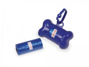 Nobby TidyUp Maisiņi suņu izkārnījumiem, kaula formas turētājā, zili