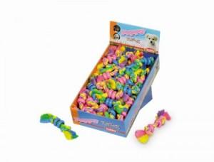 Nobby  Gumijas rotaļlieta virve ar gredzeniem 16 cm