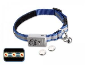 Nobby - kaklasiksna kaķiem ar LED gaismu, zila/pelēka