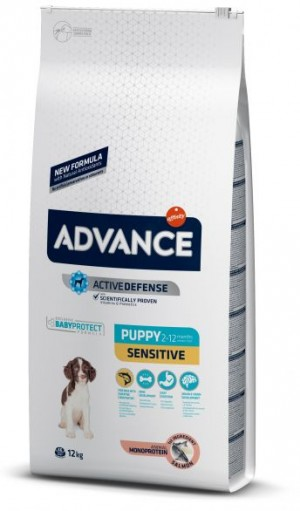 ADVANCE DOG PUPPY SENSITIVE sausā barība suņiem 12 kg
