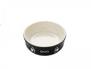 Nobby keramikas bļoda DOG melna/bēša