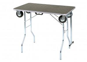 Trolley Table S izmērs 80x50x87cm Show Table Galds ar ritenīšiem
