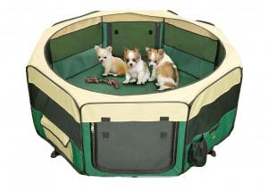 Show Tech Pet Play Park Green - 8x37cmBx37cmH Pen For Puppies Sēta Kucēniem