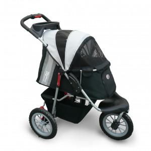 Innopet Buggy Comfort EFA Black/Silver Melni ratiņi mājdzīvnieku pārvadāšanai