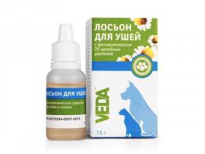 VEDA Losjons ausu tīrīšanai dzīvniekiem 15g