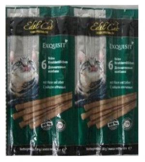 Edel Cat desiņas kaķiem ar trusi un aknām 6 x 5g